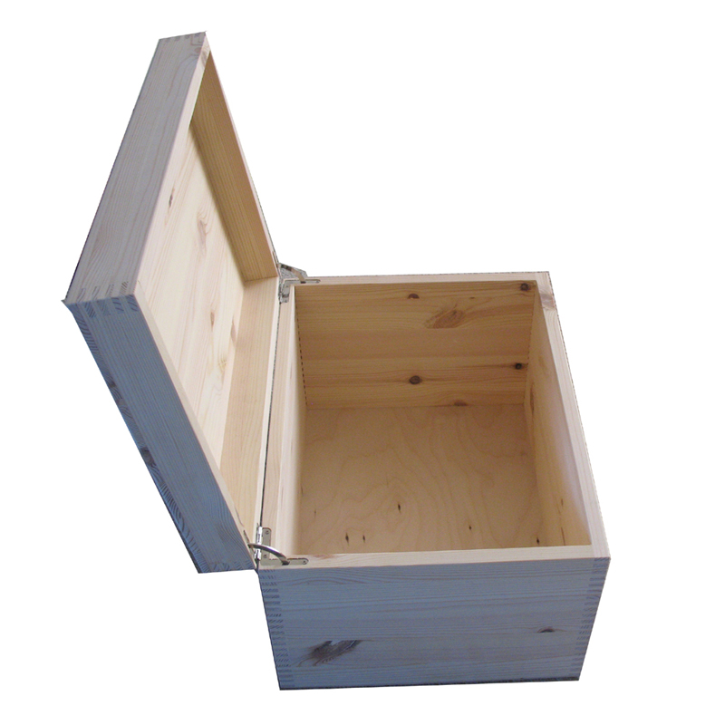 Pine XL Unfinished Plain Keepsake Storage Boxes UK Open with lid