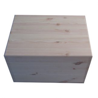 Pine XL Unfinished Plain Keepsake Storage Boxes UK