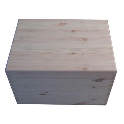 Pine XL Unfinished Plain Keepsake Storage Boxes UK