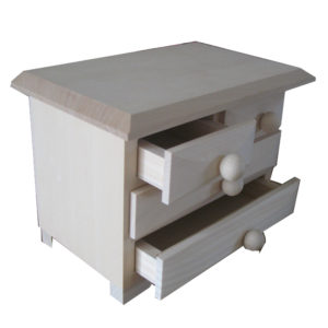 Plain Small Chest of Drawers Unfinished Ready to decorate - Craft Blanks