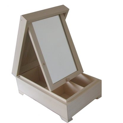 Wooden Jewellery Box to decorate, plain unfinished craft blanks