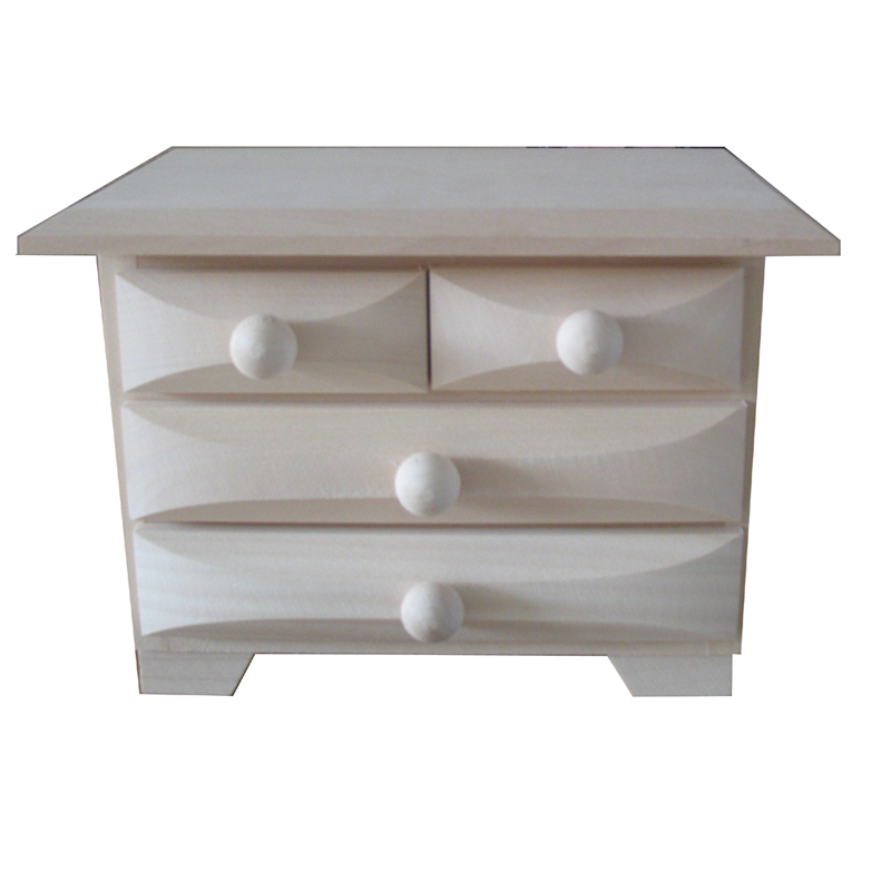 Unfinished Wood Chest ~ Plain small wooden chest of drawers unfinished to decorate