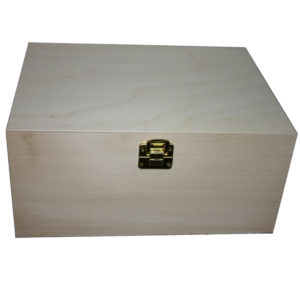 Unfiunished Plain Large Wooden Storage Keep Sake Box