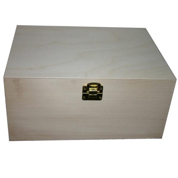 Unfiunished Plain Large Wooden Storage Keep Sake Box