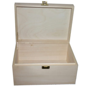 Unfinished Plain A4 Wooden Box to decorate