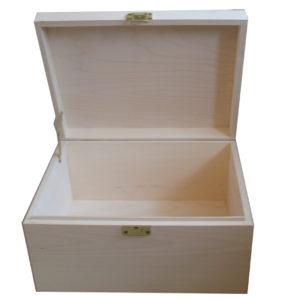 Unfinished Large plain A4 Wooden Keepsake Box