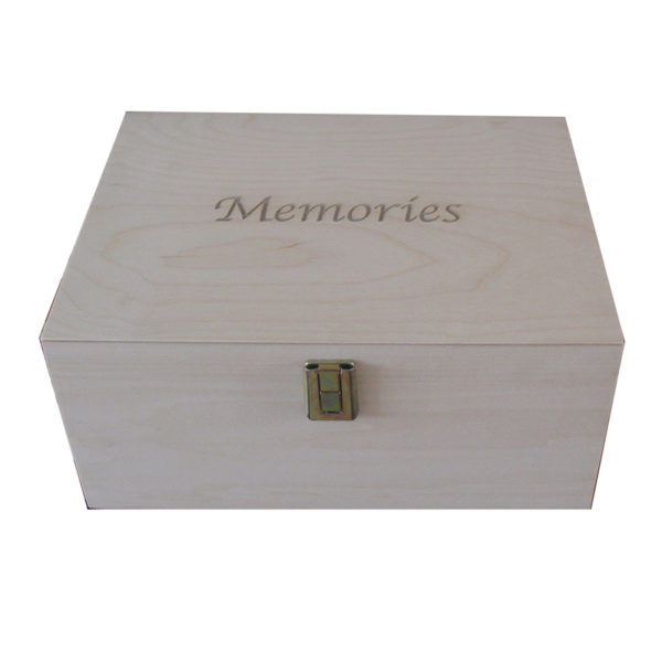 Plain Unfinished Wooden Keepsake Box for Memories engraved A4 Size
