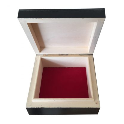 Small Black Mens Trinket Wood Box