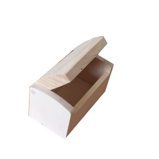 Small Wooden Plain Favour Box, unfinished and ready to decorate