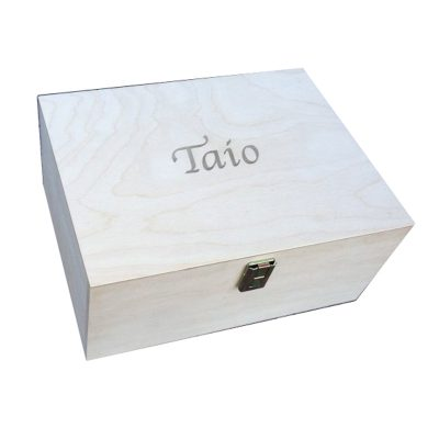 Personalised Plain Unfinished Wooden Keepsake Box for your to decorate