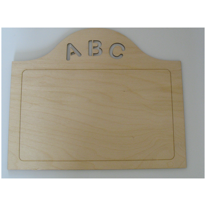 Plain Wooden Sign Plaque ABC laser cut - childrens bedroom sign to decorate