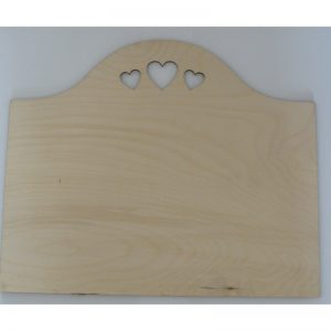 Plain Wood Plaque Sign with hearts - Craft Blanks