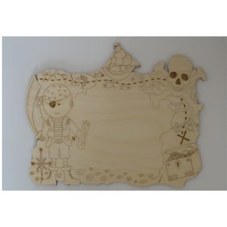 Plain Sign Plaque Wood laser cut craft blanks - pirate, treasure chest, skull