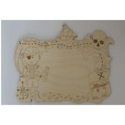 Plain Sign Plaque Wood laser cut craft blanks - pirate, treasure chest, skull