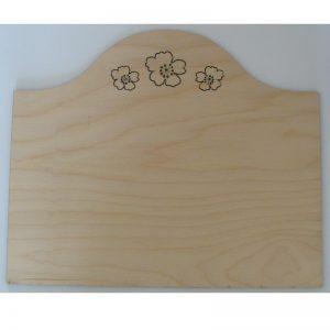 Plain Sign Plaque Wood Laser Cut Flower Heads - craft blanks