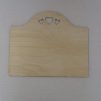 Plain Wood Craft Blank Plaques to paint & decorate - Hearts