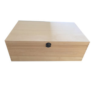 Large Plain Unfinished Wooden Keepsake Box in Poplar