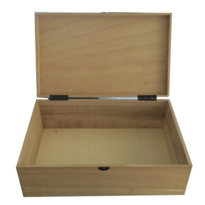 Plain Unfinished Wooden Keepsake Box in Poplar Wood
