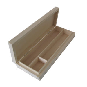 Plain Unfinished Wooden Pencil Box to decorate