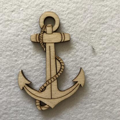 wood craft shape ships anchor
