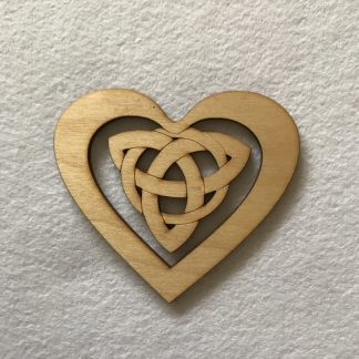 wood craft shapes - celtic heart
