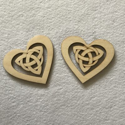 wood craft shapes - celtic hearts