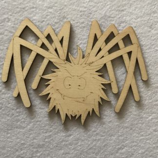 Wood Craft Shapes Scary Spider