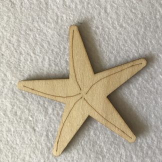 Wood Craft Shape Starfish