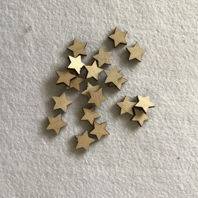 Wood Craft Shapes Stars